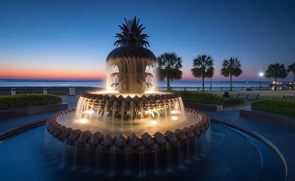BEST-OF-SOUTH-CAROLINA South Carolina Charleston Pineapple Fountain 133523219