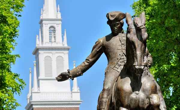 ENTLANG-KUESTE-MAINES Neuengland Boston PaulRevereStatue 31537807