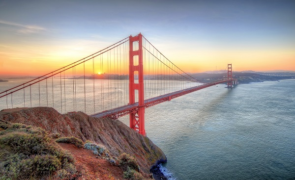 HARLEY-PANAMERICANA-SEA-LA San Francisco Sunrise seen from Golden Gate Bridge 175257533