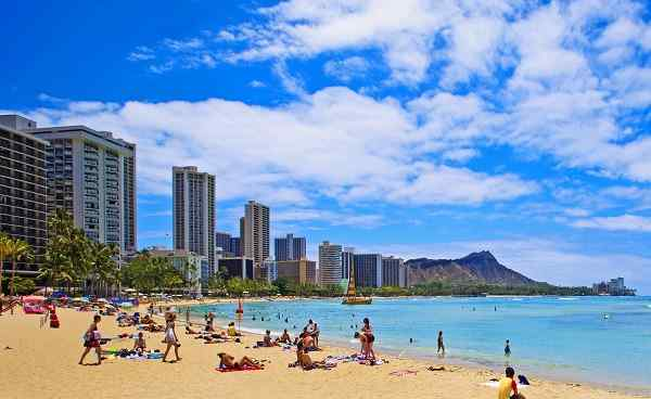 INSIDER-HAWAII Hawaii Waikiki Beach and Diamond Head  30719800