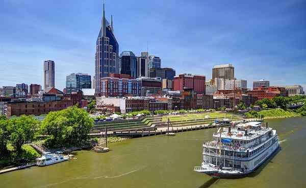 JAZZ-BLUES-ROCKN-ROLL Nashville Skyline of downtown 143241160