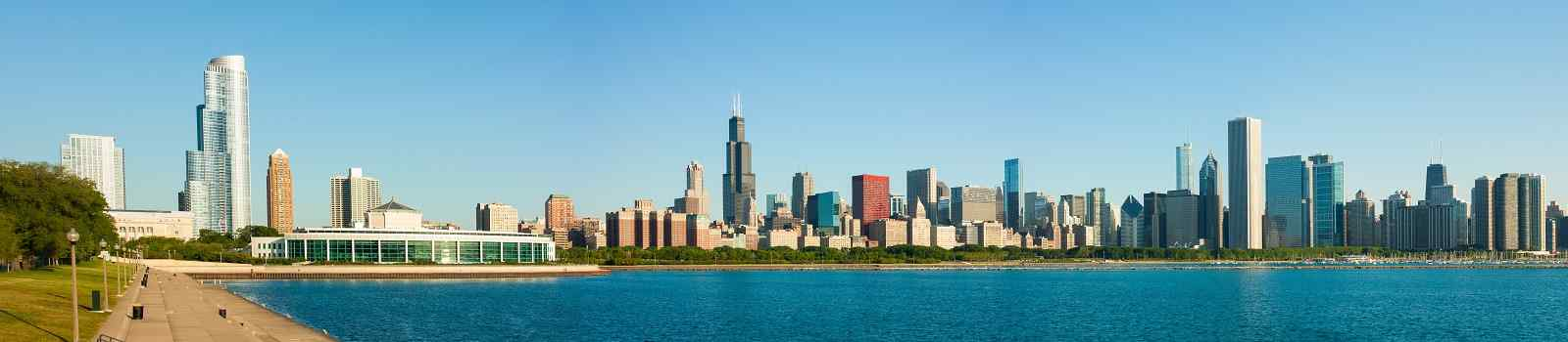 JAZZ-BLUES-ROCKN-ROLL  Chicago panorama skyline early morning 125016395