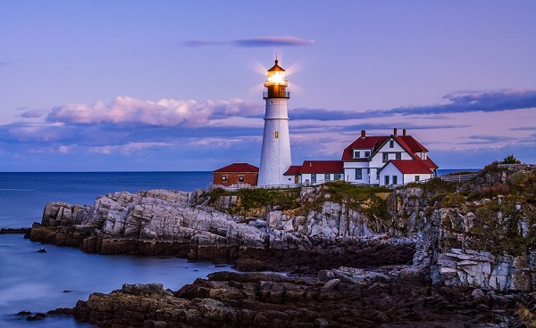 KUESTE-MAINES Neuengland Maine Portland Head Light 181252949