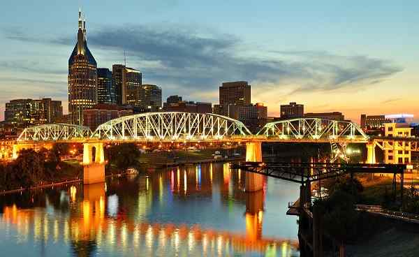 MISSISSIPPI-RUNDREISE Tennessee Nashville Skyline downtown 143344555