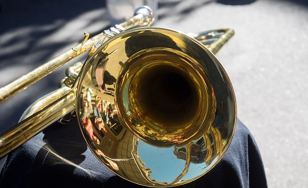 NEW-ORLEANS-SAINTS New Orleans Jazz trumpet French Quarter 174338798